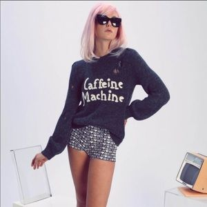 Wildfox Caffeine Machine Misty Sweater
